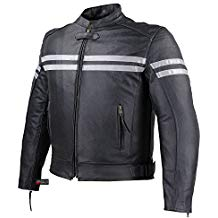 TRACK MOTORCYCLE BIKER ARMOR MEN LEATHER JACKET