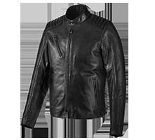 Vermont Leather Jacket Men Motorcycle